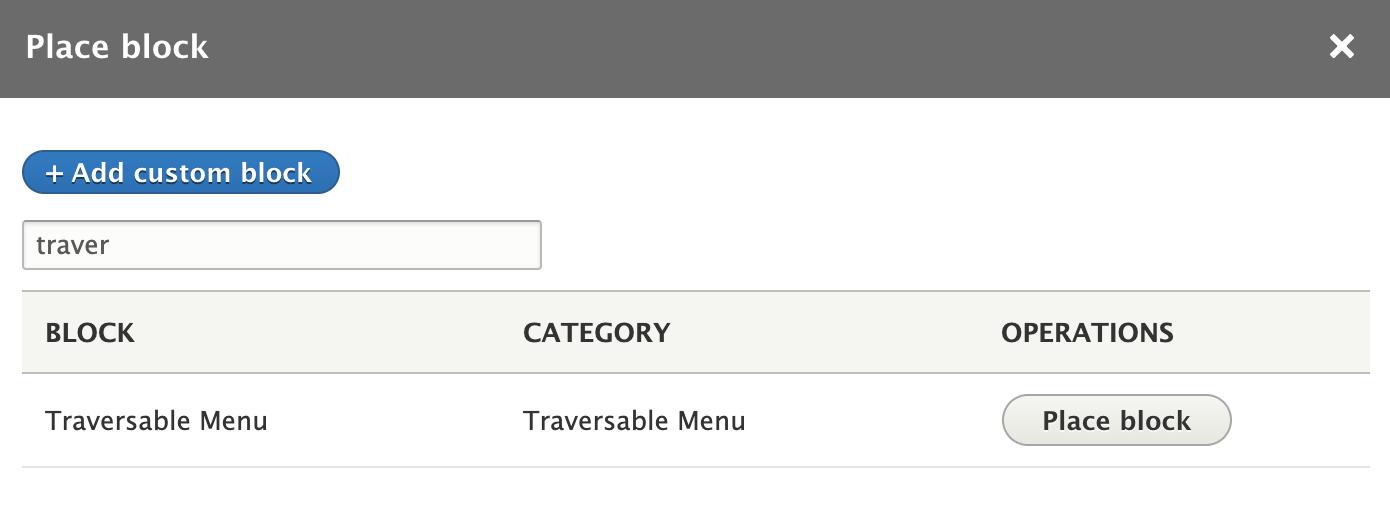 Admin menu as a source for the Traversable Menu